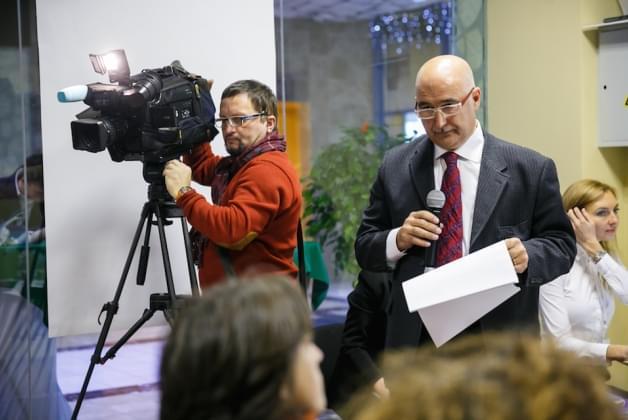 Пресс-конференция на открытии нового инфоцентра Венето
